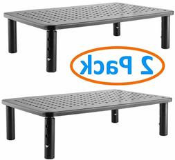 2 Pack Laptop PC Computer Monitor Stand Shelf Adjustable Hei
