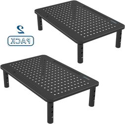 2 Pack Monitor Stand Riser, 3 Height Adjustable Monitor Stan