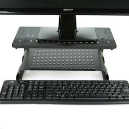 Mind Reader 2 Tier Ventilated Monitor Stand Riser with Keybo
