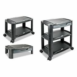 Alera 3-in-1 Storage Cart and Stand, Plastic, Black/Gray