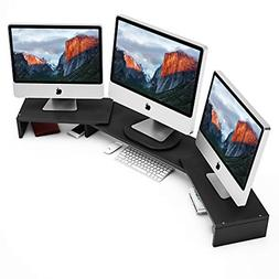 Tribesigns 3 Shelf Monitor Stand Riser with Adjustable Lengt