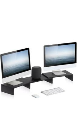 FITUEYES 3 Shelf Monitor Stand Riser with Adjustable Shelves