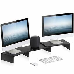 FITUEYES 3 Shelf Monitor Stand Riser with Adjustable Length