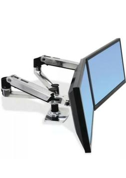 Ergotron 45-245-026 LX Dual Side-by-Side Adjustable Mounting