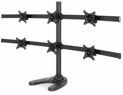 Desk Mount Stand Up To Six 6 Lcd Monitor Rack Multiple Scree