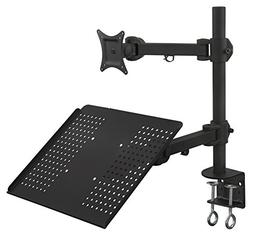 Mount-It! MI-3352LTMN Laptop Desk Stand and Monitor Mount, F