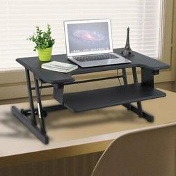 Adjustable Height Standing Desk Converter Sit Stand Monitor