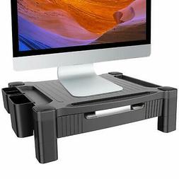 Adjustable Monitor Stand Riser With Pull Out Drawer Computer