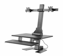 """AVLT-Power Dual 32"""" Monitor Electric Standing Desk Large Key"""