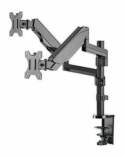 """AVLT-Power Dual 32"""" Monitor Vertical Stack Desk Stand, Mount"""