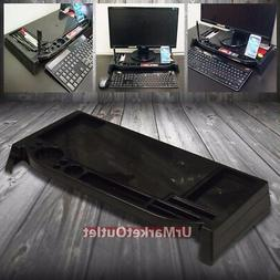 Black Universal Laptop Multimedia LCD Monitor Stand/Raiser O