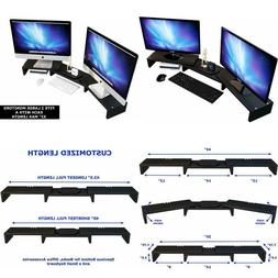 Computer Monitor Stand Riser for 2, Dual, Double, 3, Triple,