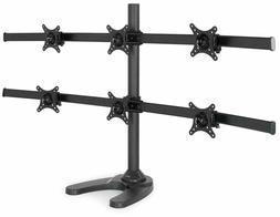 Desk Mount Stand Up To 6 Lcd Monitor Rack Multiple Screen Ho