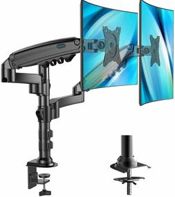 Dual Arm Monitor Stand Height Adjustable Gas Spring Desk VES
