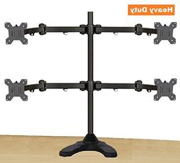 EZM Articulating Quad Monitor Mount Stand Free Standing Up t