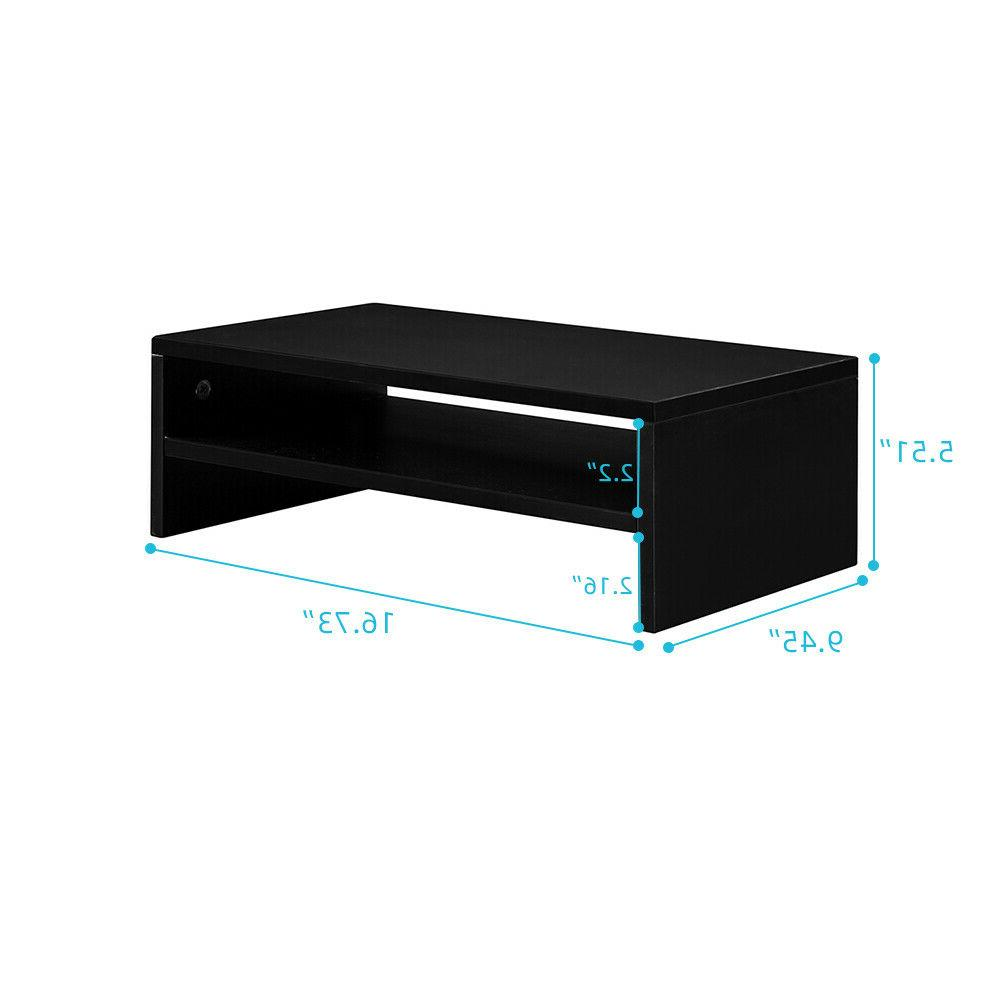 """2-Tier 16.7"""" Monitor Stand Table Laptop TV"""