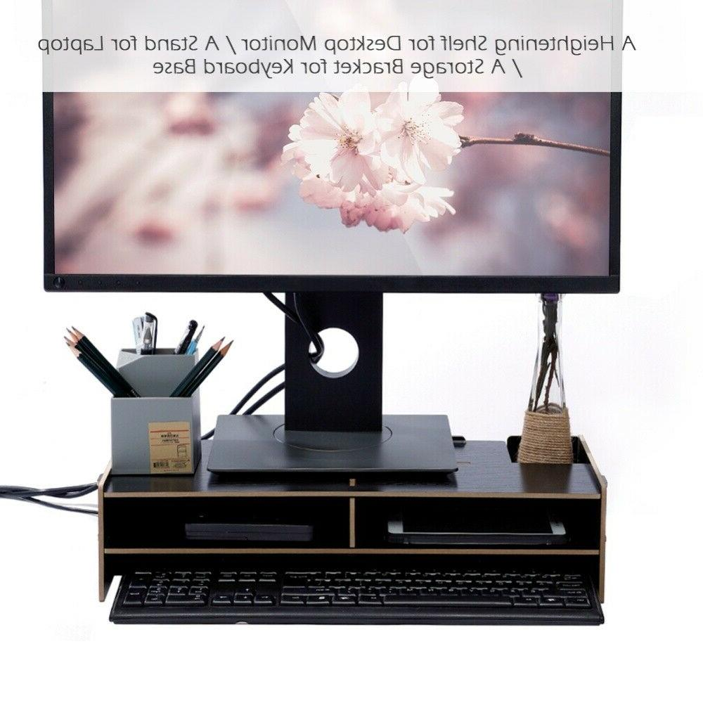 Computer Stand Desk Table Laptop Wood