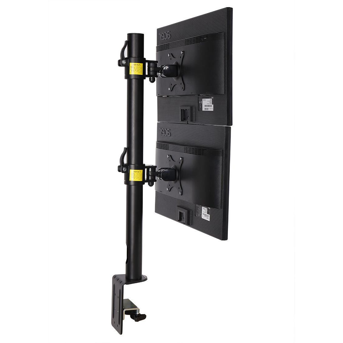 Dual Computer Monitor Desk Mount Stand Vertical Arrary for 2