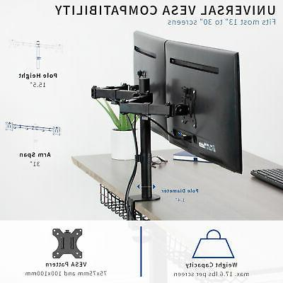"""VIVO Dual 13"""" to Mount Stand, Heavy Duty, Adjustable"""