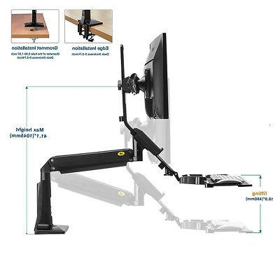 North Dual Sit Mount Stand Desk