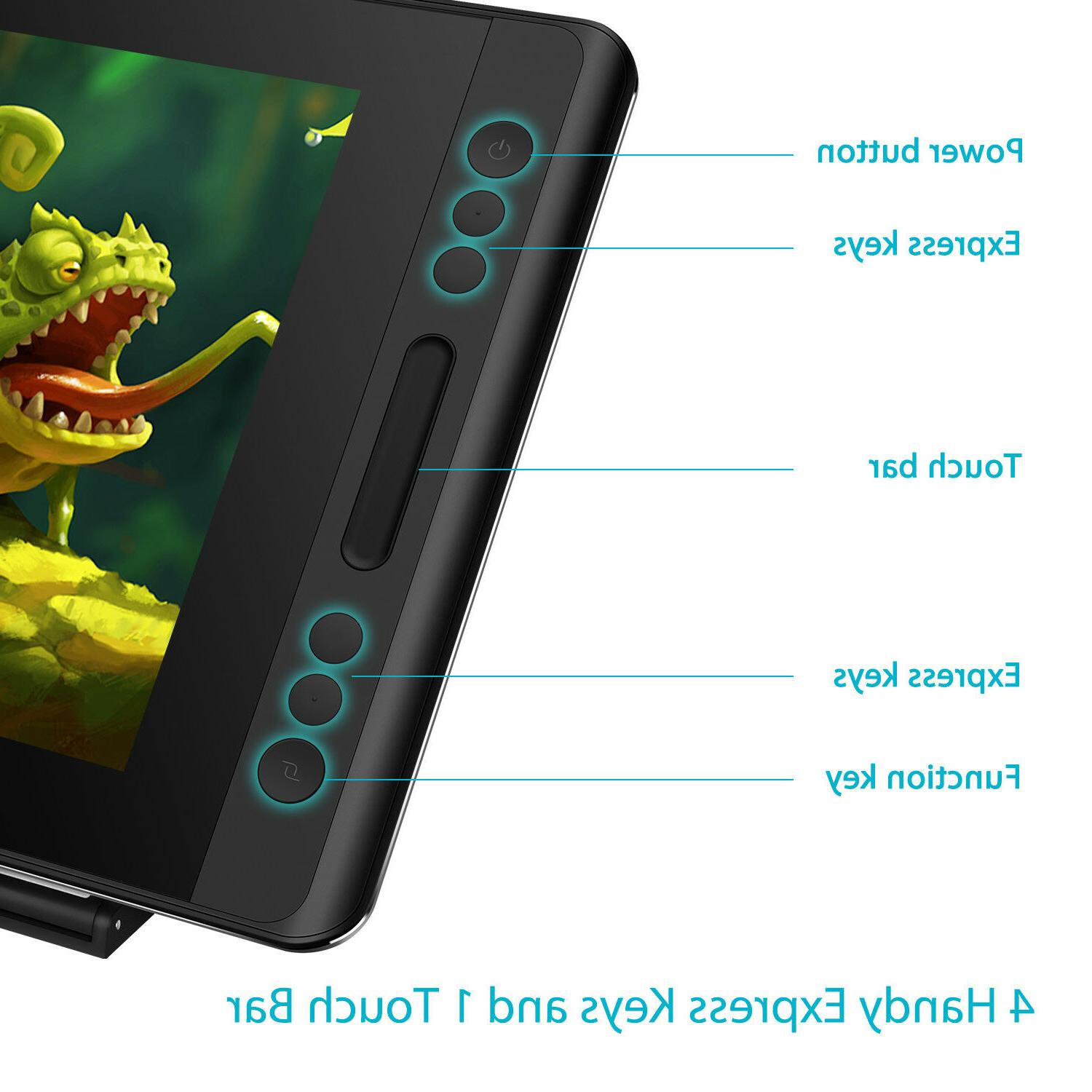 HUION Stand Graphics Display Battery Free Pen Tablet Tilt
