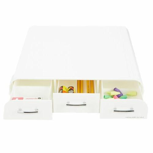 Mind Reader Laptop Monitor Desk with 3 Pack White