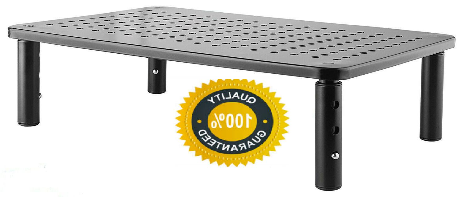 monitor stand computer desk riser adjustable height