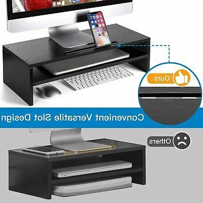 HUANUO Monitor Stand 21.7 Inch Desktop Storage