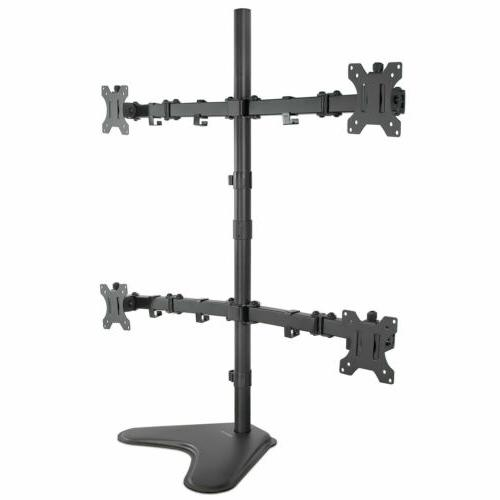 mount it quad monitor stand free standing