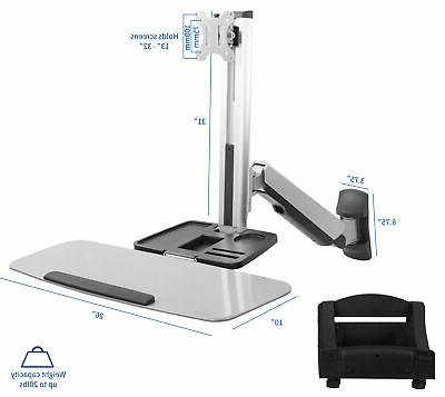 Single Sit-Stand Wall Mount