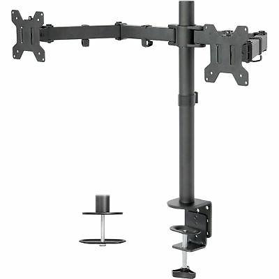 used dual lcd monitor desk mount stand