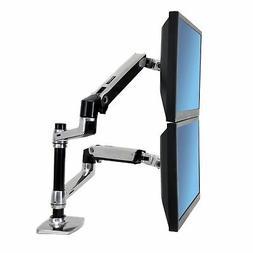 Ergotron ​LX Adjustable Dual Monitor Stacking Arm Attachme