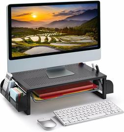 Metal Monitor Riser Stand and Computer Desk Organizer with D