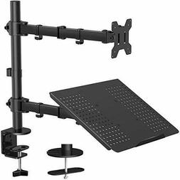 Monitor Stand with Keyboard Tray - Adjustable Desk Mount Lap