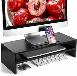 HUANUO Monitor Stand Riser- 21.7 Inch 2 Tier Desktop Stand,