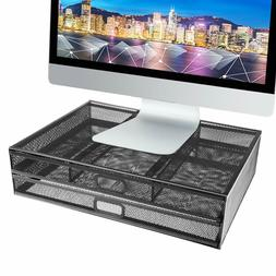 Pro Space Desk Organizer Metal Desk Monitor Stand Riser with