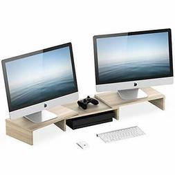 FITUEYES Monitor Stand Riser with Adjustable Length and Angl