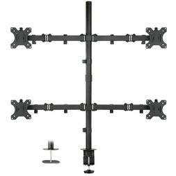 """Mount-It! Quad Monitor Mount 4 Screen Desk Stand Fits 17"""" -"""