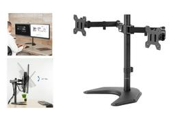 NEW Free-Standing Desk Stand for 2 Screens up to 27 inches D