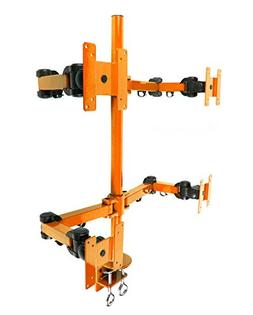 """MonMount Quad LCD  Stand Desk Clamp Holds Upto 4 27"""" LCD Mon"""