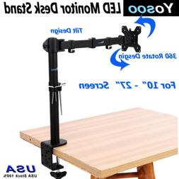 Single Arm Monitor Desk Table Mount Stand For LCD/LED Fully