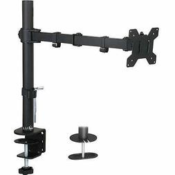 Single LCD Monitor Desk Mount Fully Adjustable Stand Fits 1