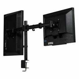 Steel Dual Monitor Arm Desk Table Mount Stand 2 LCD Fully Sw
