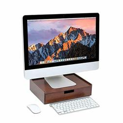 Wood Drawer Large, Monitor Stand Stackable Storage Solution